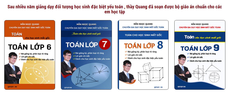 Bộ sách cho học sinh mất gốc quận Hai Bà Trưng thầy Mẫn Ngọc Quang
